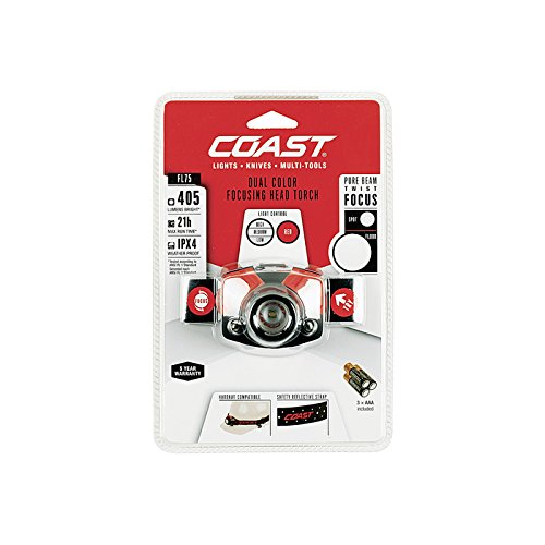 Coast FL75405Lumen Verstellbarer Fokus Kopf Taschenlampe, Schwarz