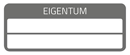 AVERY Zweckform 6923 Eigentums-Etiketten (50 Stück, Sicherheitsfolie, 50 x 20 mm) 10 Bogen schwarz
