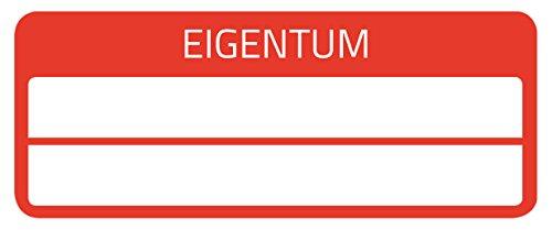 AVERY Zweckform 6925 Eigentums-Etiketten (50 Stück, Sicherheitsfolie, 50 x 20 mm) 10 Bogen rot