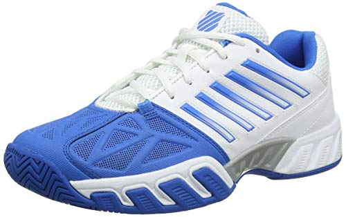 K-Swiss Performance Herren Bigshot Light 3 Tennisschuhe, Weiß (Weiß/Brilliant Blau/Schwarz), 46 EU