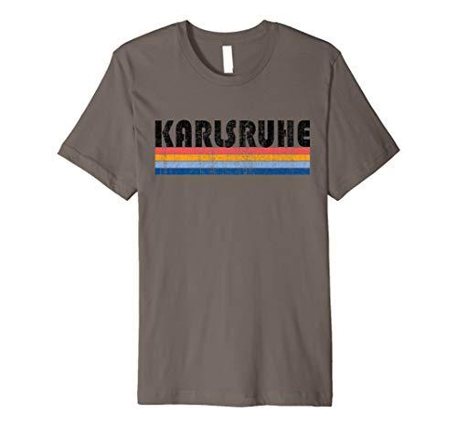 Vintage 1980er Stil Karlsruhe Deutschland T-Shirt