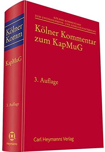 Kölner Kommentar zum KapMuG