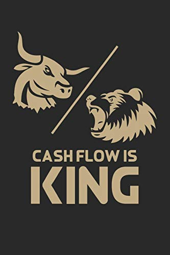 Notizbuch: Aktien, ETF, Fond, Reit und Anleihen Notizen für jeden Trader, Aktienhändler oder Privatanleger ♦ über 100 Seiten für alle Notizen, Kurse, ... 6x9 Format ♦ Motiv: Cashflow is king 9